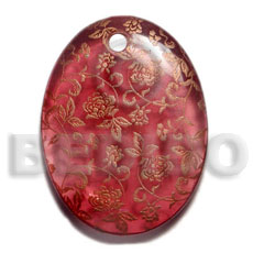Fashion oval 45mm transparent maroon resin resin pendants