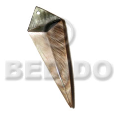 Cebu 40mmx18mm laminated brownlip blacklip dagger resin pendants