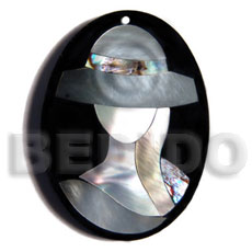 Ladies 50mmx38mm oval pendant elegant hat resin pendants
