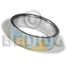 Philippine inlaid hammershell in stainless 10mm rings