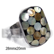 Fashion big accent haute hippie ring rings
