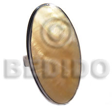 Unisex big accent haute hippie oval rings