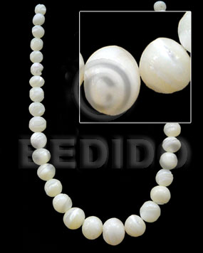 Philippines graduated troca beads -male round shell beads