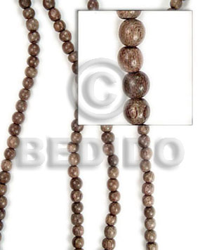 Ladies greywood beads 10mm round wood beads