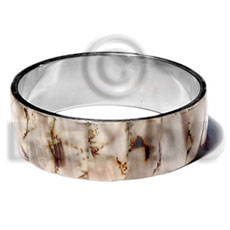 Unisex laminated shell in 1 shell bangles