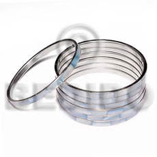 Wholesale laminated hammershell blue in 5mm shell bangles