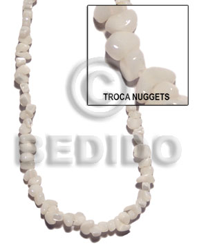Natural troca nuggets shell beads