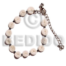 Philippine floating white clam heishe shell bracelets