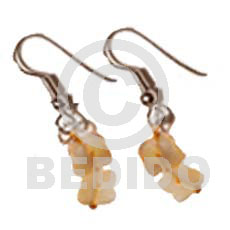 Cebu dangling golden hammershell butterfly chips shell earrings