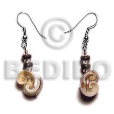 Cebu dangling everlastingluhuanus 4-5mm coco shell earrings