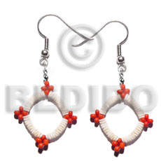 Unisex dangling white clam glass shell earrings