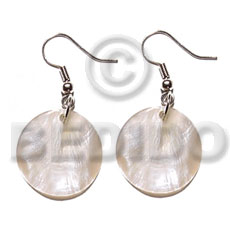 Wholesale dangling 20mmx20mm round hammershell shell earrings