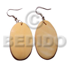 Unisex dangling 35mmx30mm oval melo shell shell earrings