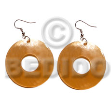Philippine dangling 35mm ring hammershell shell earrings