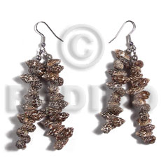 Philippines dangling nassa tiger shells shell earrings