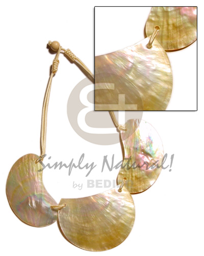 Cebu 3 pc. 60mm mop shell necklace