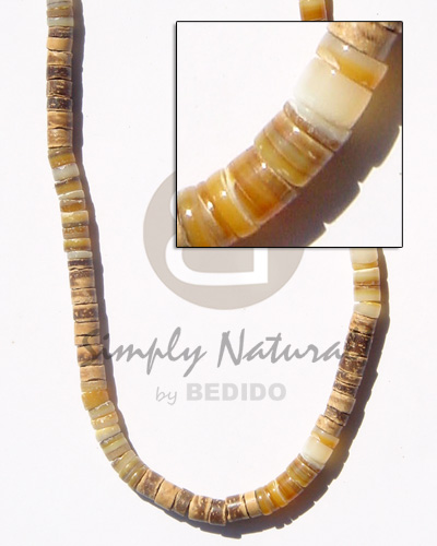 Native 4-5 coco heishe tiger shell necklace