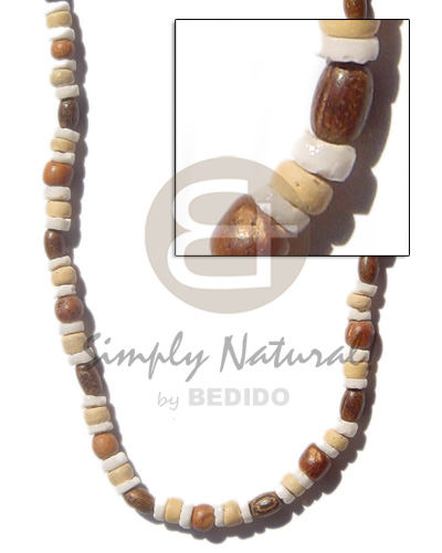 Natural 4-5mm heishe white clam shell necklace