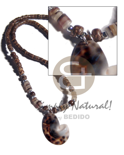 Fashion 4-5mm coco heishe 4-5mm shell necklace
