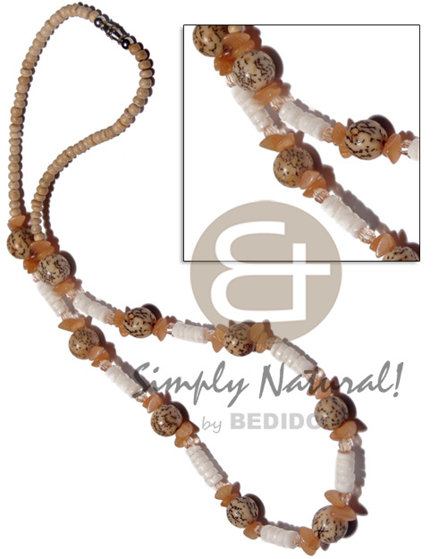 Natural 2-3mm coco pokalet natural shell necklace