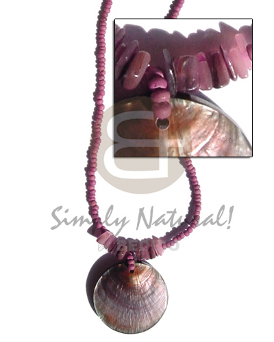 Philippine 2-3mm coco pokalet old rose shell necklace