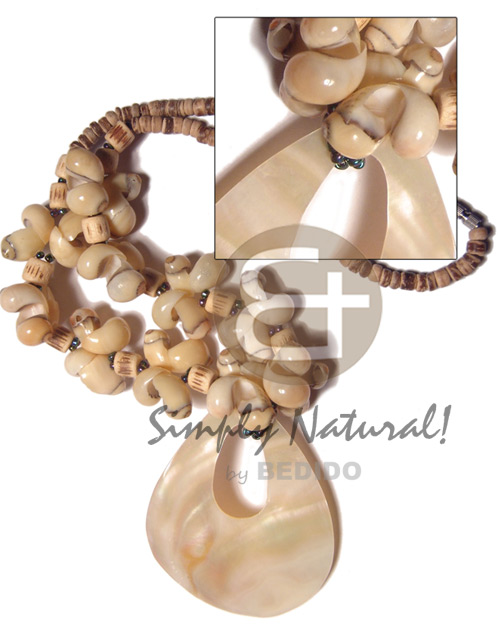 Cebu 4-5mm coco tiger pokalet shell necklace
