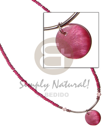 Philippines 2-3 pink coco pokalet shell necklace