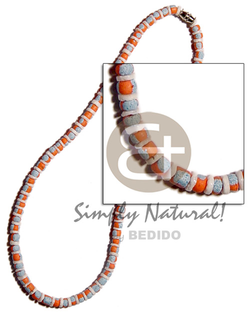 Ethnic 4-5mm coco splashing white shell necklace