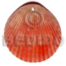 Teens red piktin clam shell pendant