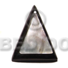Wholesale 50mm hammershell triangle thick shell pendant