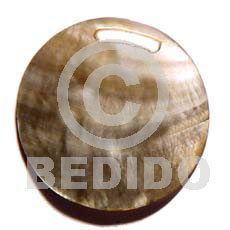 Natural round blacklip 40mm shell pendant