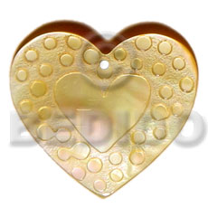 Wholesale 45mm heart mop droplets shell pendant