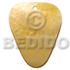 Ladies 40mm inverted rounded edges triangle shell pendant