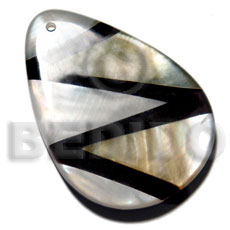 Natural 60mmx45mm 7mm thickness teardrop shell pendant