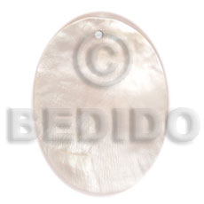Wholesale 40mmx30mm hammershell oval shell pendant