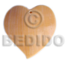 Philippines heart melo 50mm shell pendants