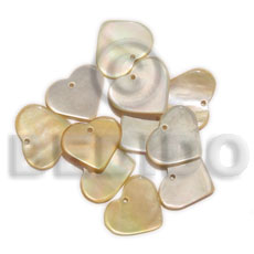 Philippines miniature mop hearts 10mm shell pendants