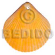 Fashion piktin clam dyed in golden shell pendants