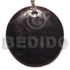Ethnic round black pin shell cracking shell pendants