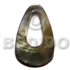 Philippine 35mm blacklip teardrop ring shell pendants