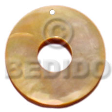 Natural 30mm mop ring 15mm shell pendants