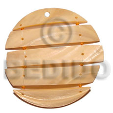 Teens 60mm segmented kabibe melon shell pendants