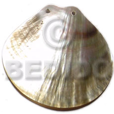 Cebu 60mm clam shape blacklip shell shell pendants