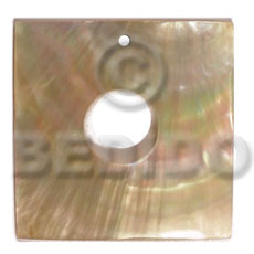 Natural 40mm square mop 15mm shell pendants