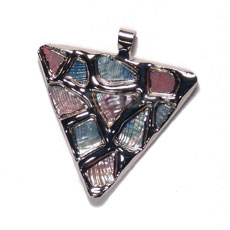 Fashion triangle 50mm glistening abalone in shell pendants