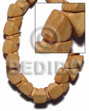 "Ladies ""nangka"" barrel double slidecut 11mm slide cut wood beads"