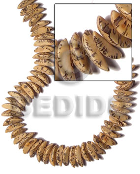 Ladies buri seed tiger quarter moon special cuts seed beads