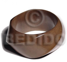 Philippines twisted chunky bangle mocca stained bangles