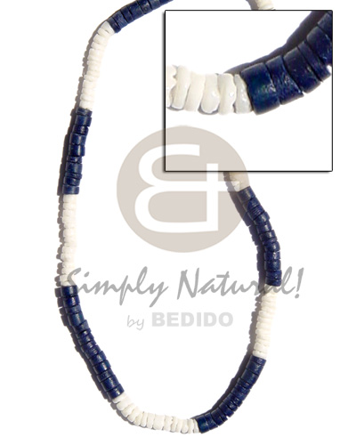 Fashion 4-5mm white clam navy surfer necklace