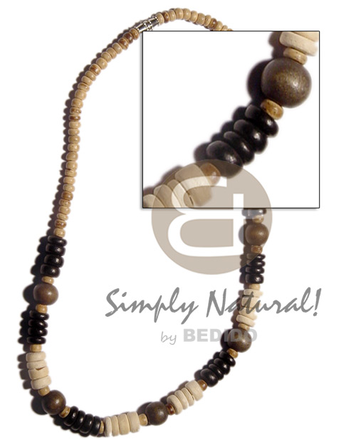 Native 4-5mm coco pokalet natural surfer necklace